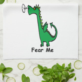 Cartoon Dragon Fear Me Kitchen Towel