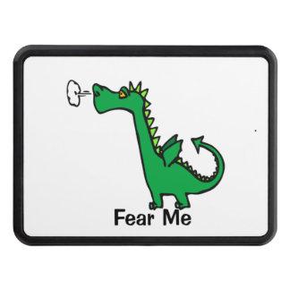 Cartoon Dragon Fear Me Trailer Hitch Cover