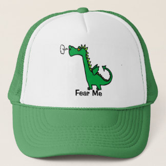 Cartoon Dragon Fear Me Trucker Hat