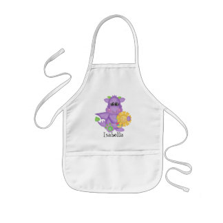 Cartoon Dragon fun add name kids apron
