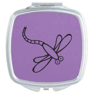 Cartoon dragonfly makeup mirror