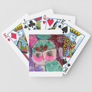 Cartoon drama face bicycle playing cards