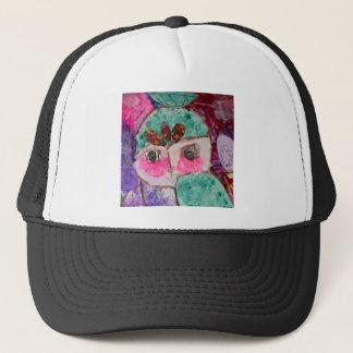 Cartoon drama face trucker hat