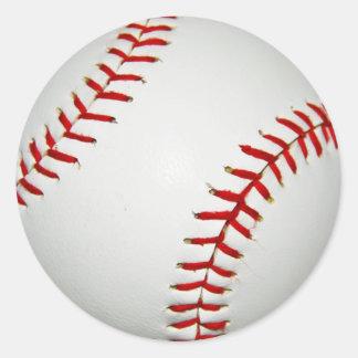 Cartoon Drawn American Baseball Classic Round Sticker