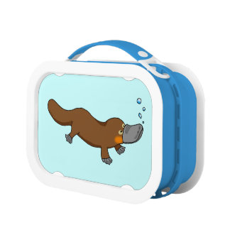 Cartoon duck-billed platypus lunch box