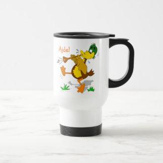Cartoon Duck Playing Zurna Stainless Travel Mug