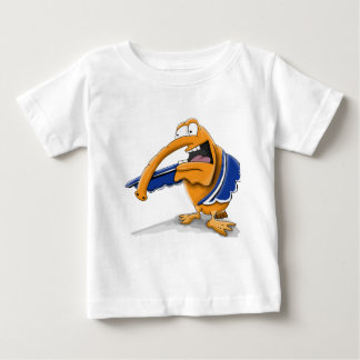 Cartoon duck with a trunk and blue wings baby T-Shirt