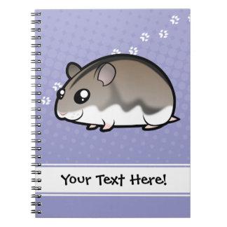 Cartoon Dwarf Hamster Notebooks