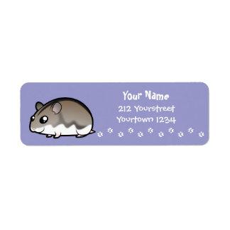Cartoon Dwarf Hamster Return Address Label