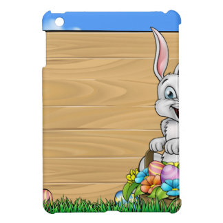 Cartoon Easter Bunny Background Sign Cover For The iPad Mini