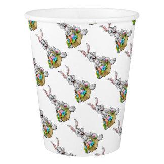 Cartoon Easter Bunny Egg Hunt Paper Cup