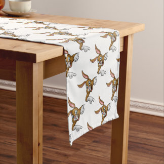 Cartoon Easter Bunny or Rabbit Pointing Short Table Runner