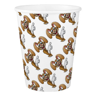 Cartoon Easter Bunny Rabbit Pointing Paper Cup