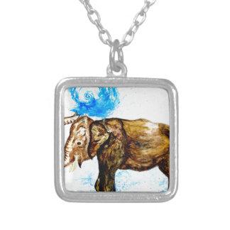 Cartoon Elephant2 Silver Plated Necklace