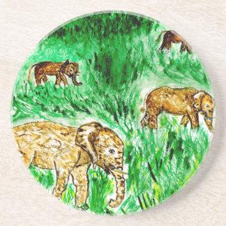 Cartoon Elephant3 Coaster