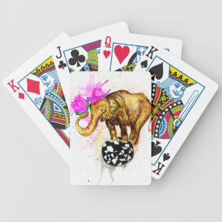 Cartoon Elephant Bicycle Playing Cards