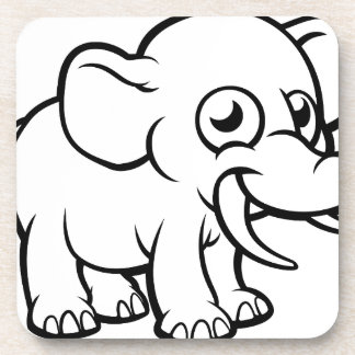 Cartoon Elephant Character Coaster