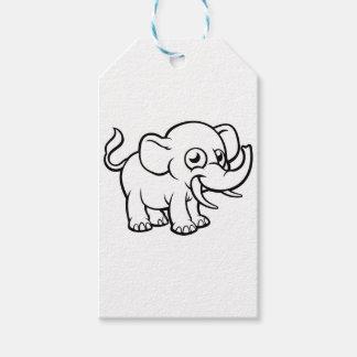 Cartoon Elephant Character Gift Tags