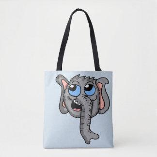 Cartoon Elephant Head tote bag