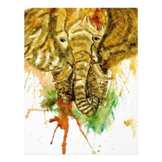 Cartoon Elephant Letterhead