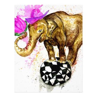 Cartoon Elephant Letterhead Template