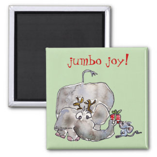 Cartoon Elephant Mouse Magnet