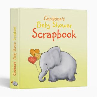 Cartoon Elephant Neutral Baby Shower Scrapbook Binder