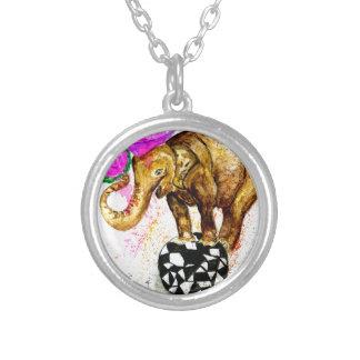 Cartoon Elephant Silver Plated Necklace