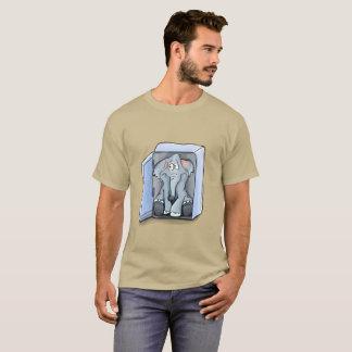 Cartoon elephant sitting inside a refrigerator T-Shirt