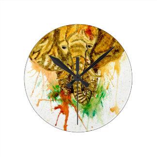 Cartoon Elephant Wall Clock