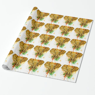 Cartoon Elephant Wrapping Paper