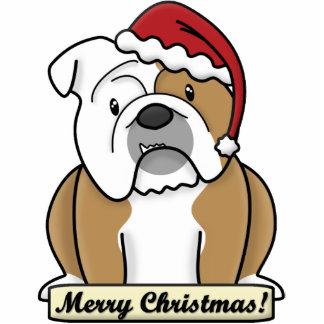 Cartoon English Bulldog Christmas Ornament Photo Sculpture Ornament