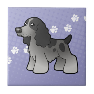 Cartoon English Cocker Spaniel Tile