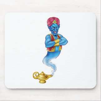 Cartoon Evil Aladdin Genie Mouse Pad