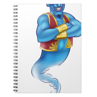 Cartoon Evil Aladdin Genie Notebooks