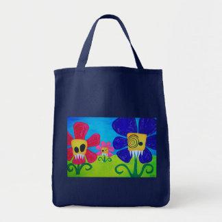 Cartoon Evil Flowers Tote Bag