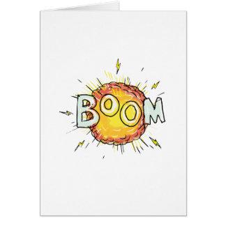 Cartoon Explosion Boom Card