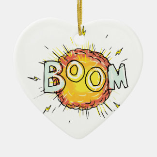 Cartoon Explosion Boom Ceramic Ornament