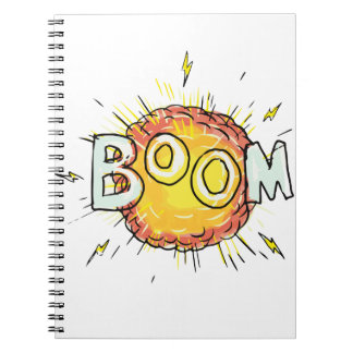 Cartoon Explosion Boom Notebooks
