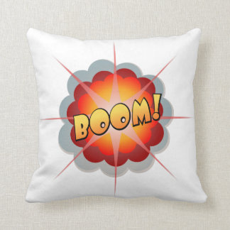 Cartoon explosion throw pillow
