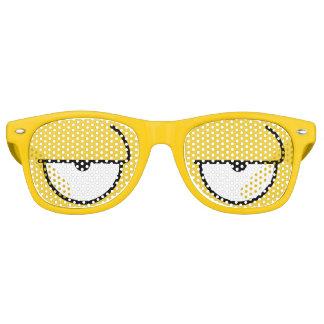 Cartoon Eyes Sleepy Yellow Sunglasses
