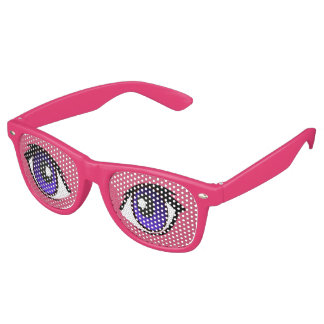 Cartoon Eyes Sunglasses by Leslie Harlow