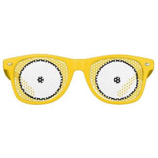 Cartoon Eyes Wide Open Yellow Sunglasses