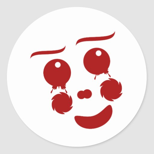 Cartoon Face, happy clown butterfly Sticker