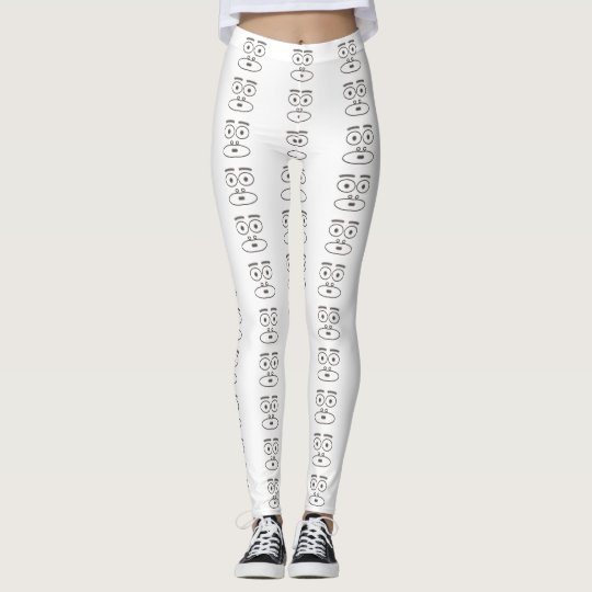 Cartoon face leggings