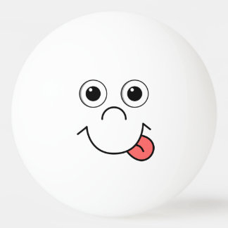 Cartoon face ping pong ball