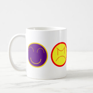 cartoon faces coffee mug