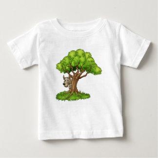 Cartoon Fairytale Big Bad Wolf and Tree Baby T-Shirt