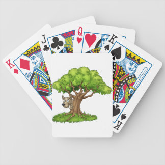 Cartoon Fairytale Big Bad Wolf and Tree Bicycle Playing Cards