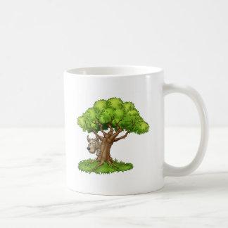 Cartoon Fairytale Big Bad Wolf and Tree Coffee Mug